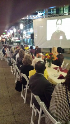 The Voices of Rochester premiered at family-style dinner event on the downtown plaza on Sept. 26.