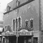 This photo from Cinema Treasures captures the Chateau before First Street was closed and converted to Peace Plaza