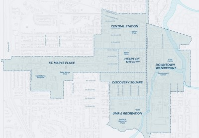 The DMC District map above shows the boundaries of where DMC projects can be built.