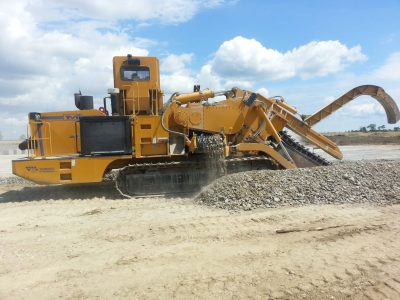 Rock trencher example